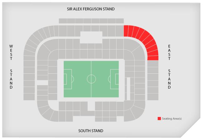 Stadionplan Old Trafford